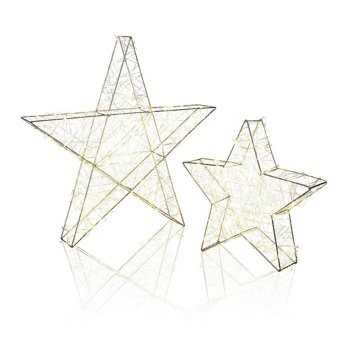 Sparset Outdoor Stern mit LED-Beleuchtung, 2er-Set   #2