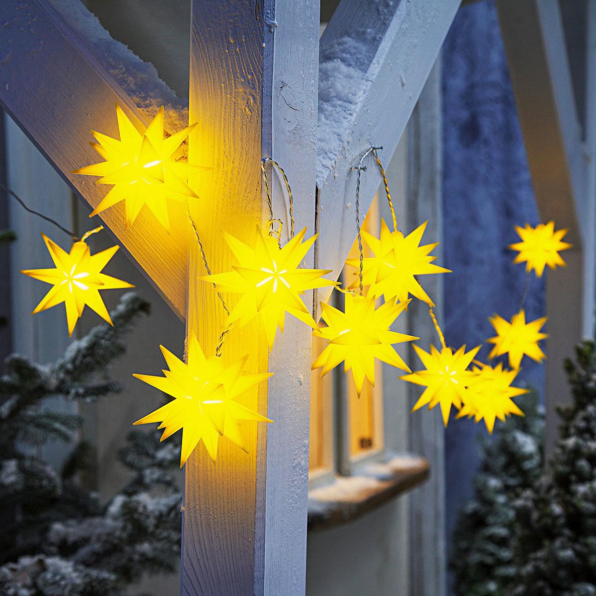 LED-Lichterkette Weihnachtstern, gelb   #2