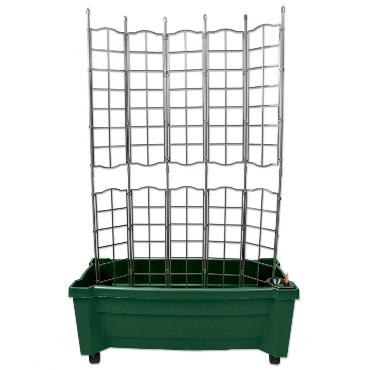 Pflanzkasten mit Bewässerungssystem und modularem Spaliere, grün | #2