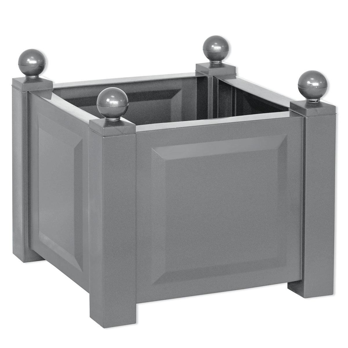 Quadratischer Pflanzkasten, grau | #2