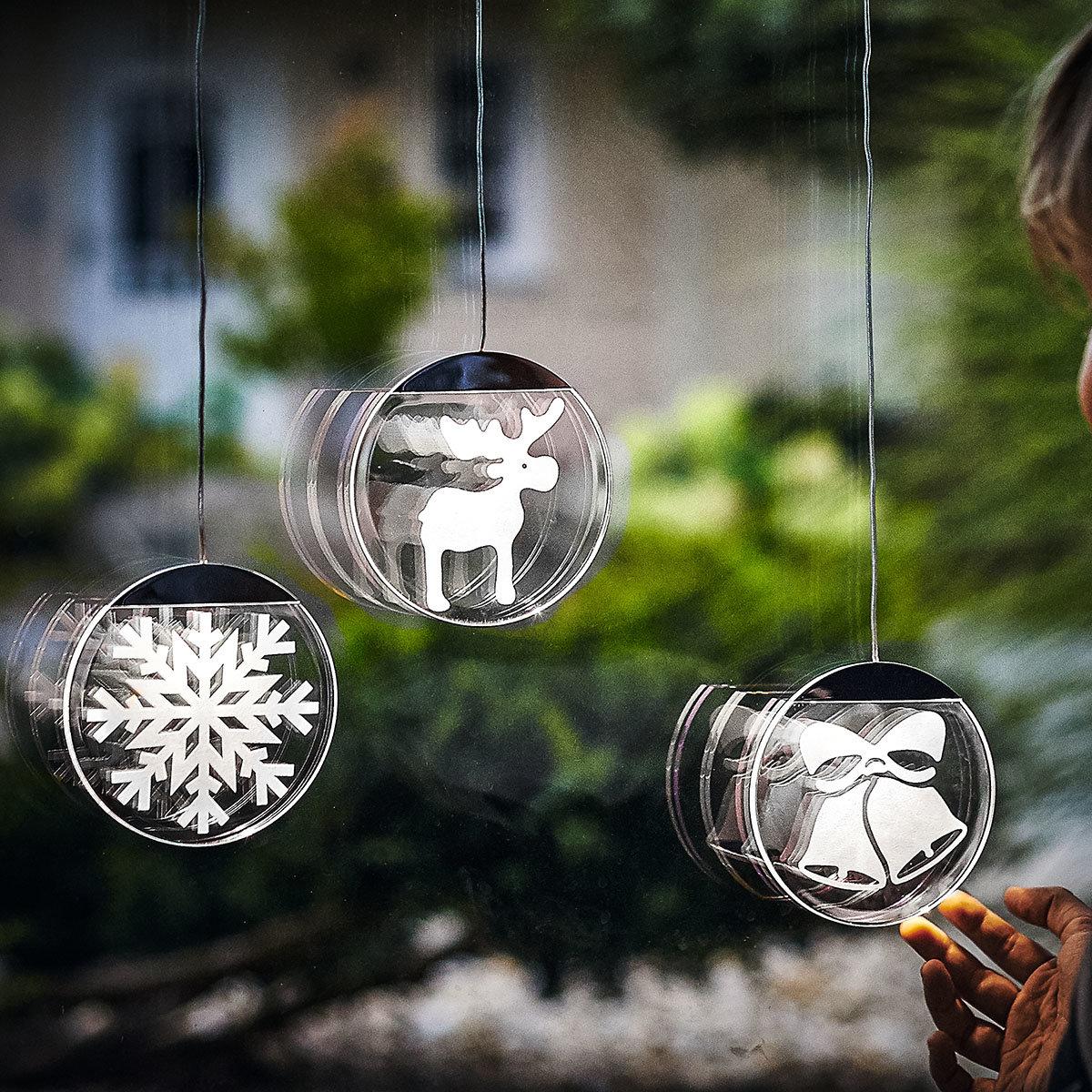 Deko-Lights Elch, silber, Ø 10 cm | #2