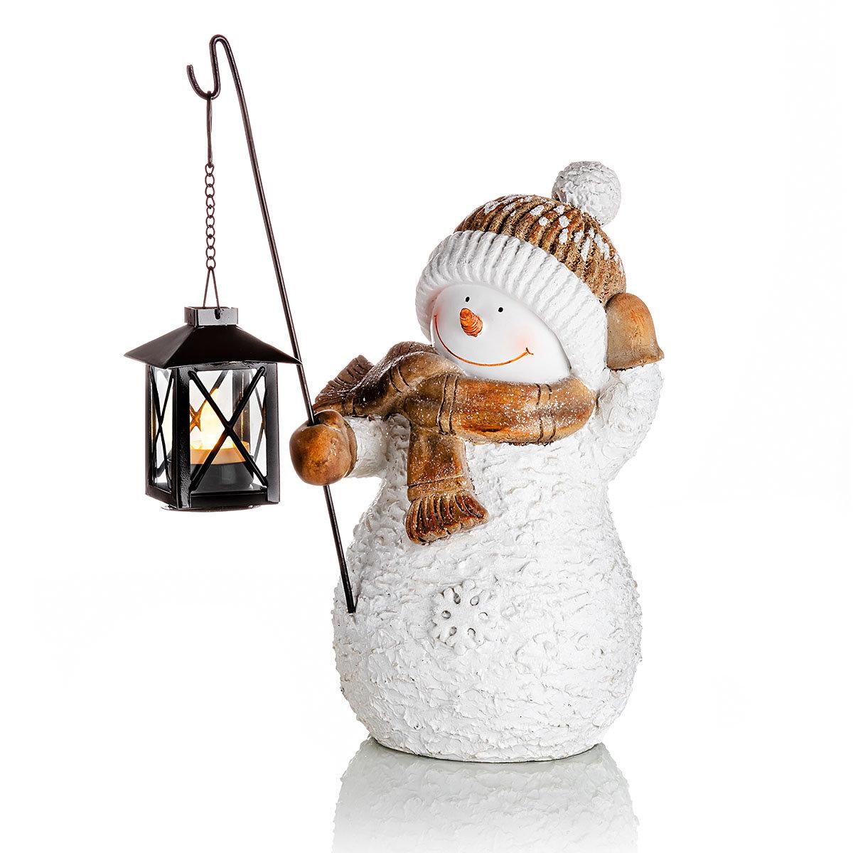 Deko-Schneemann Snowy mit LED-Laterne   #2