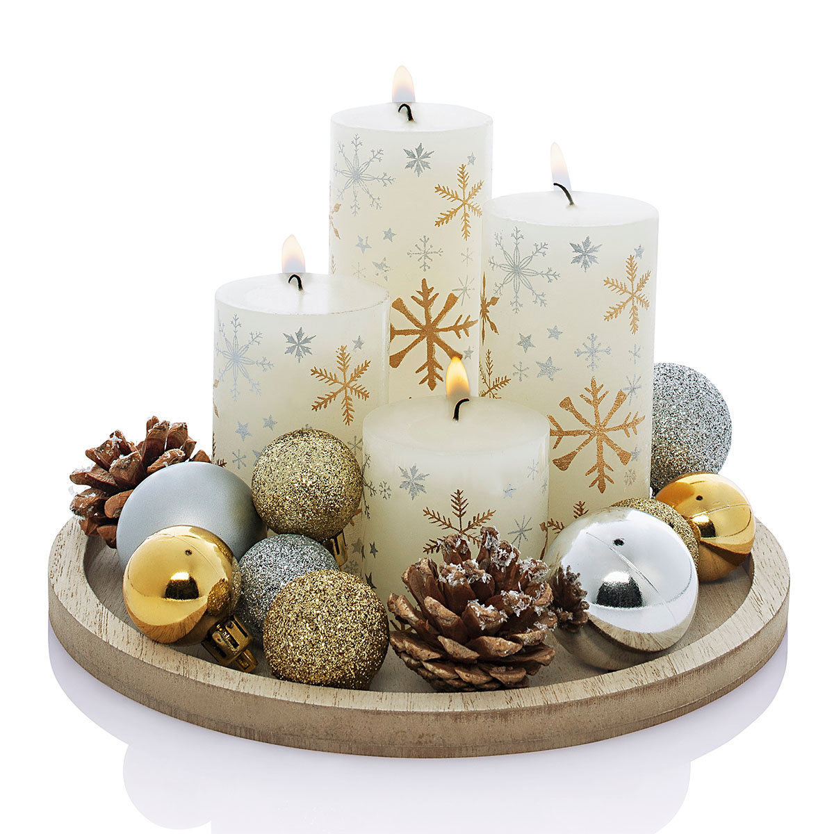 Kerzenset White Christmas | #2