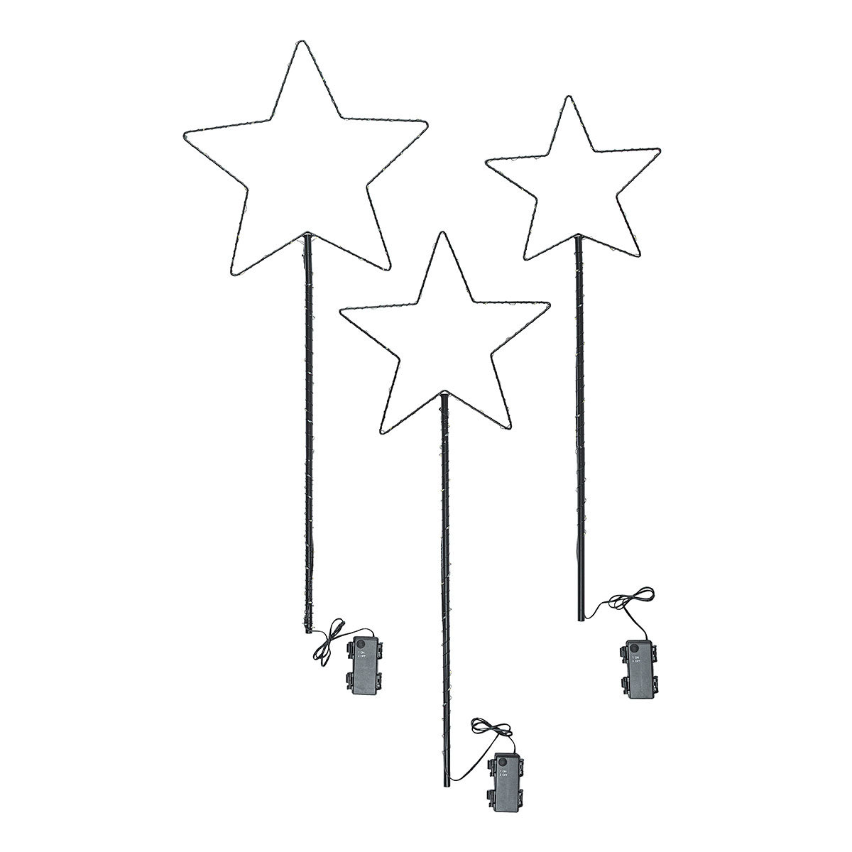 "LED-Gartenstecker ""Sternenglanz"" 3er-Set | #2"