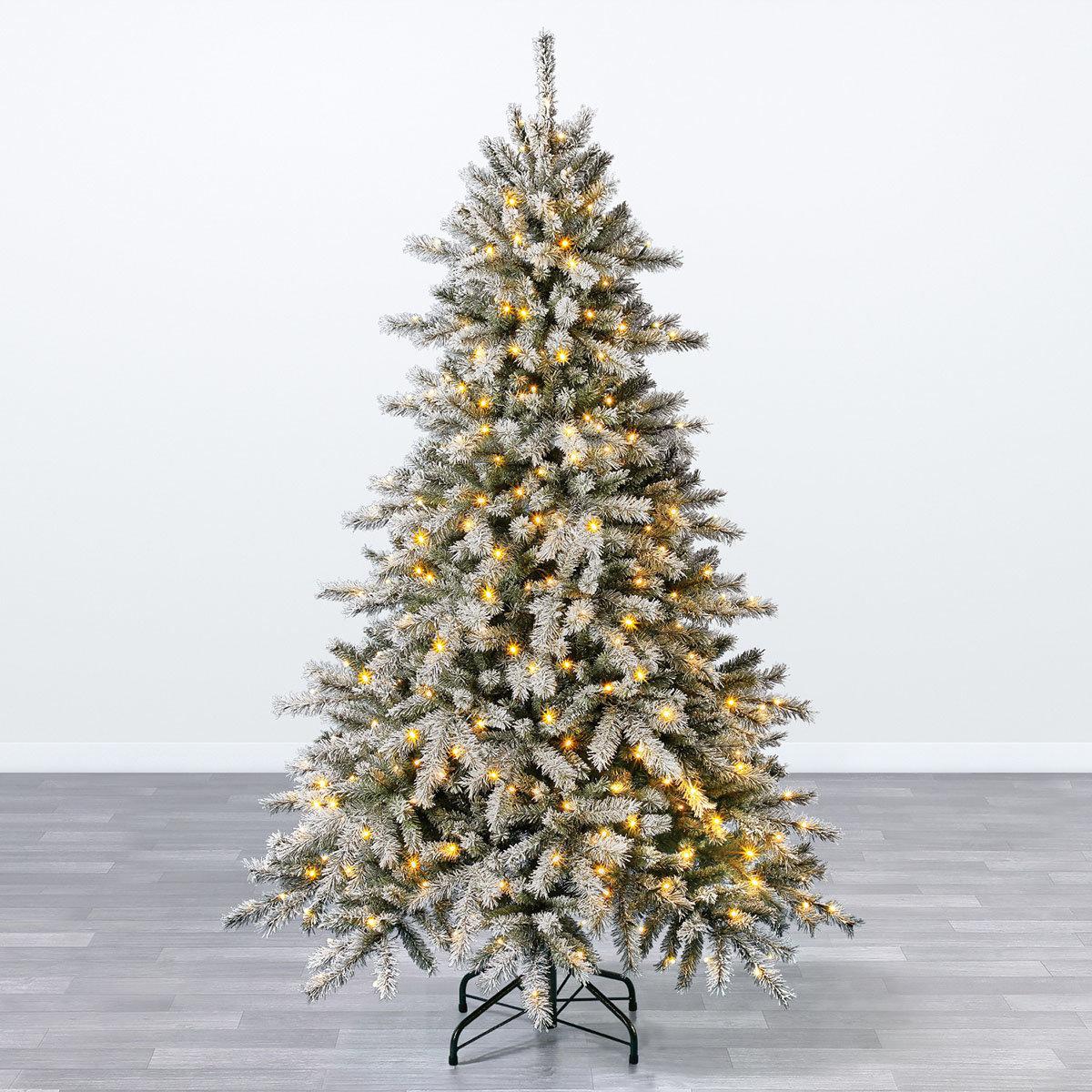 Künstlicher Weihnachtsbaum Fichte, Schneeoptik, mit LED-Beleuchtung, 210 cm   #2