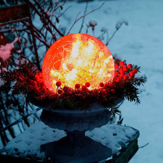 Glaskugel Weihnachtsglanz, rot 20 cm | #2