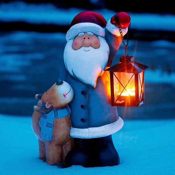 Weihnachtsmann mit Rentier Rocky | #2