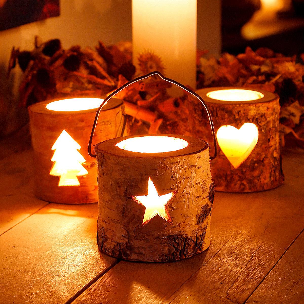 Teelichthalter Natürliche Weihnacht, 3er-Set | #2