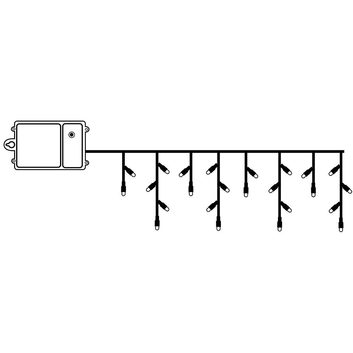 Batterie-LED Eiszapfenvorhang 120 LEDs | #2