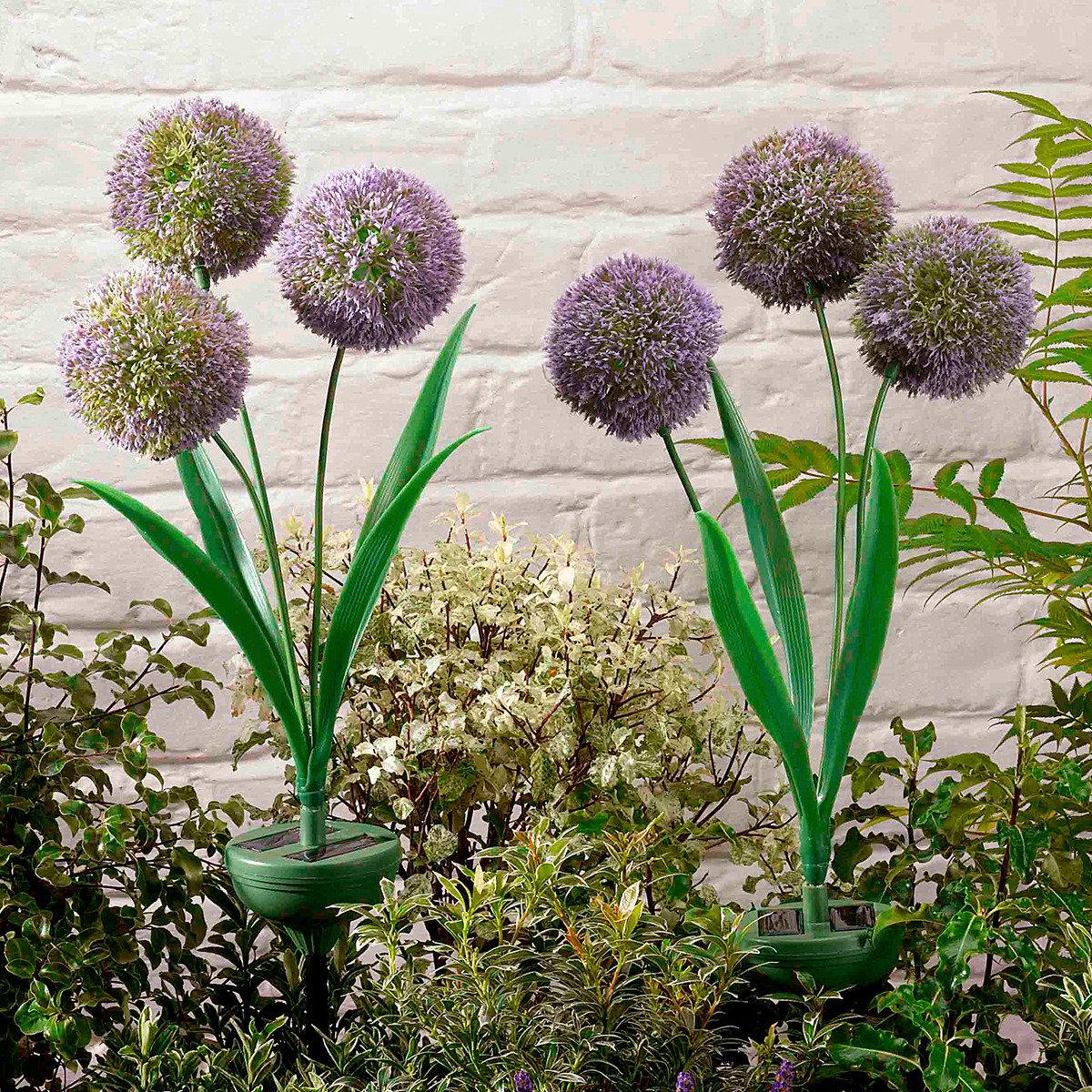 Solar-Gartenleuchten Trio Allium, 2er-Set | #2