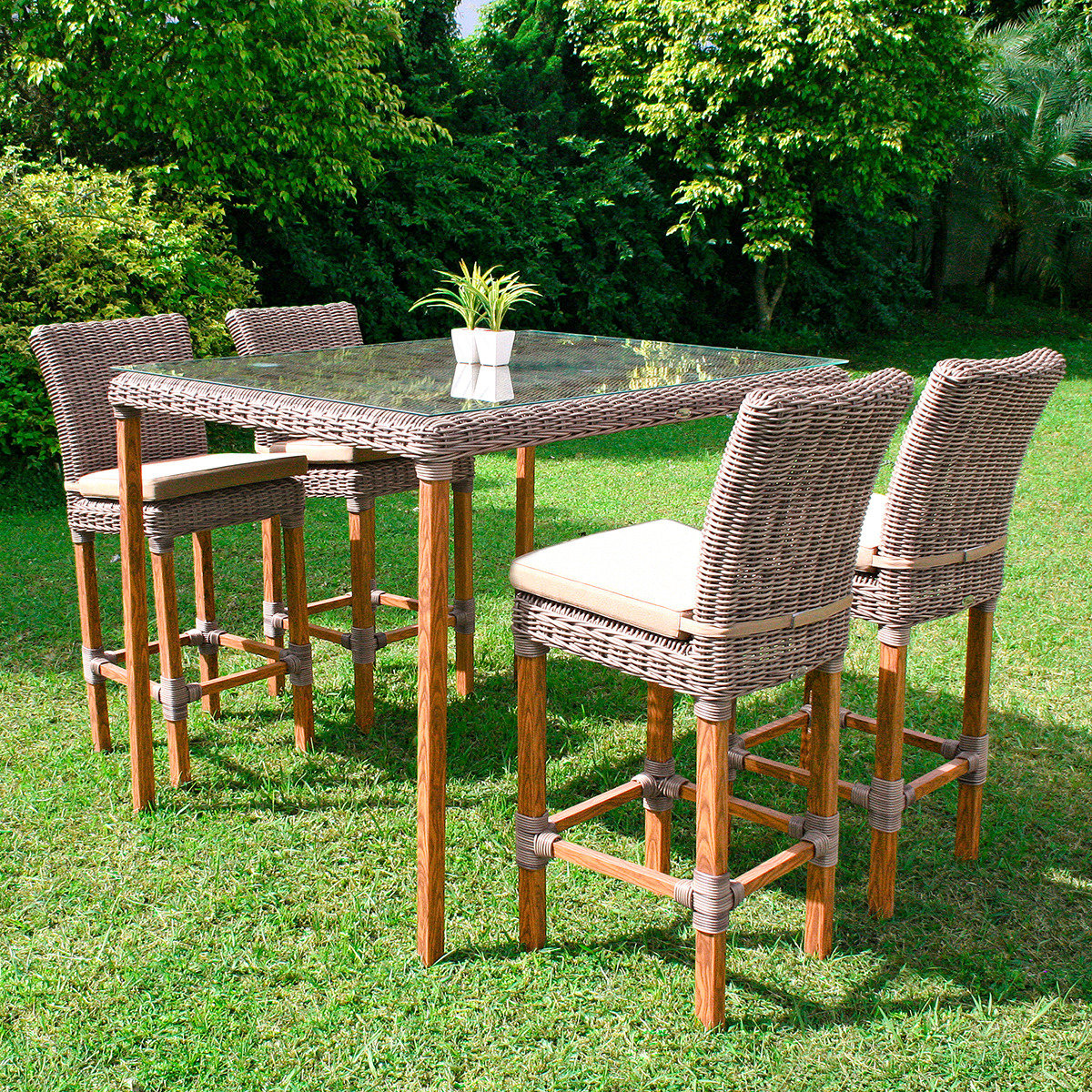 bargruppe promi treff aus outdoor rattan von g rtner. Black Bedroom Furniture Sets. Home Design Ideas