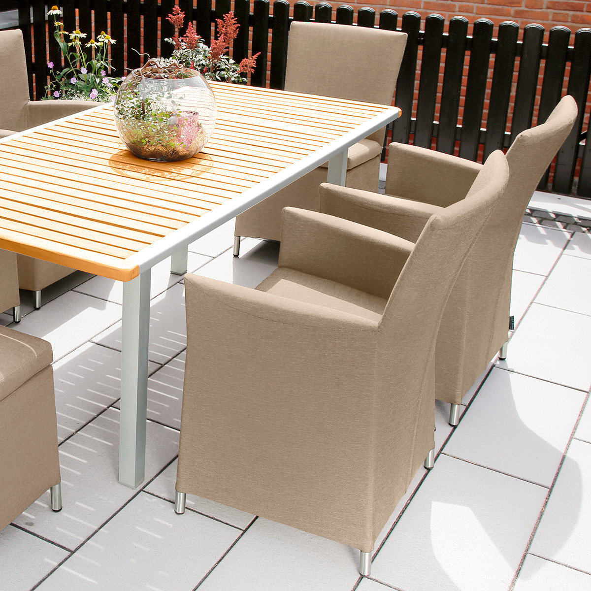 Outdoor Sessel Sunflower mit Armlehnen, beige | #2