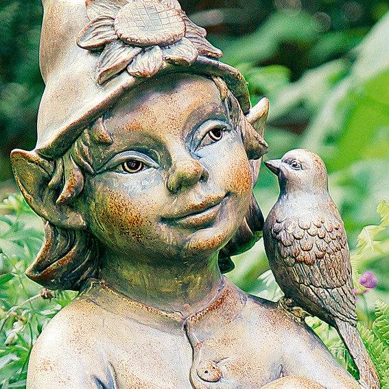 Gartenfigur Waldelfe Birdie | #2