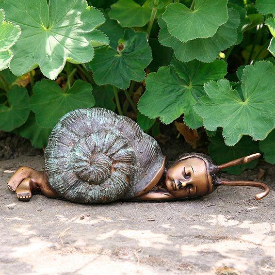 Garten-Bronze-Figur Schlafende Schnecke | #2