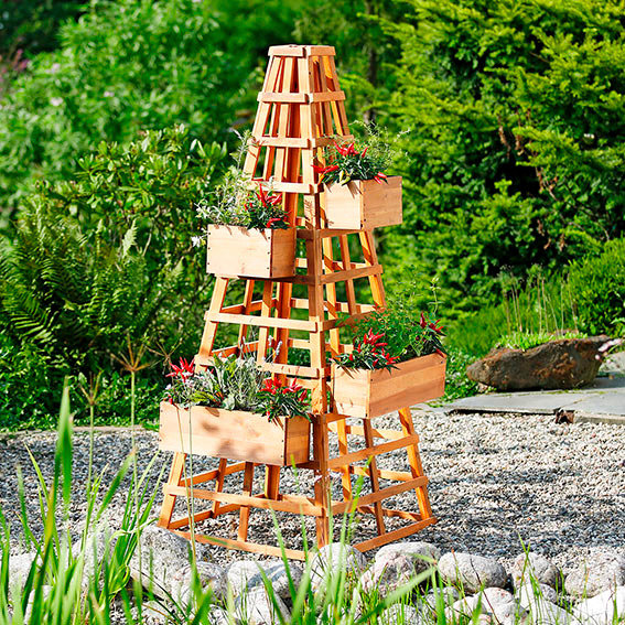 Kleiner Pflanzkasten für Rankturm - Rankgerüst Landhof | #2
