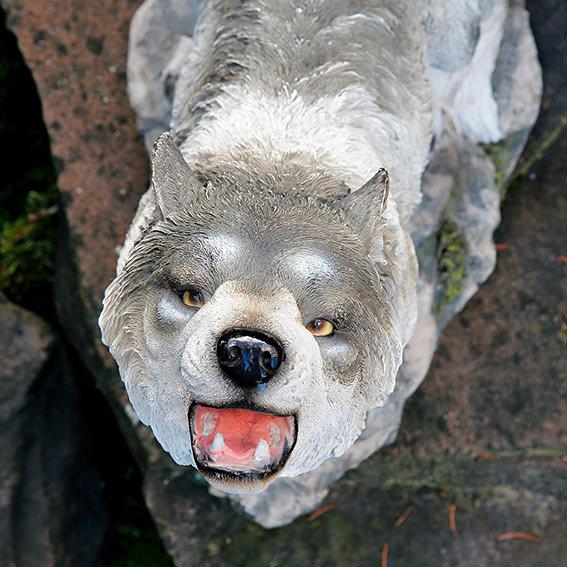 Gartenfigur Heulender Wolf | #2