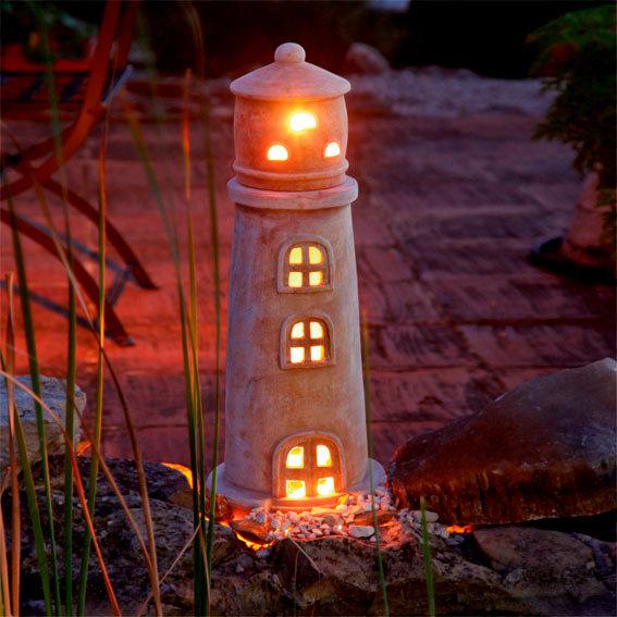 Terracotta leuchtturm nordwind von g rtner p tschke for Gartendeko neuheiten