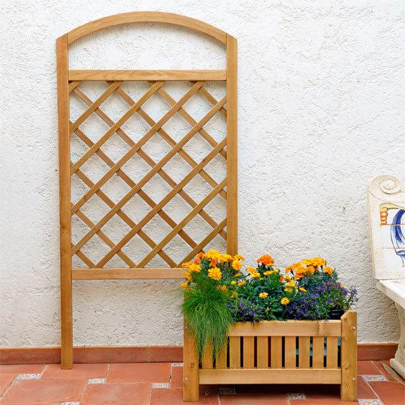 pflanzk sten mit rankgitter pergola mit pflanzkasten und. Black Bedroom Furniture Sets. Home Design Ideas