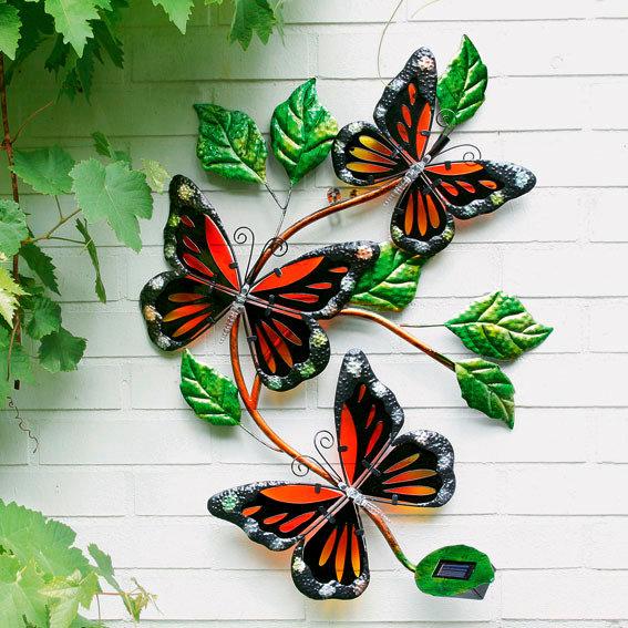 Wanddeko Solarleuchte Schmetterling | #2