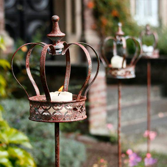 Gartenstecker krone 3er set von g rtner p tschke for Gartendeko neuheiten