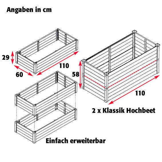 Hochbeet Klassik, rechteckig-anthrazit | #2