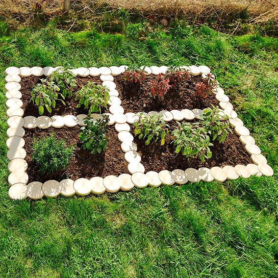 Bio-Rasenkantensteine Komplett-Set (12 Stück + 1 Endstück)   #3