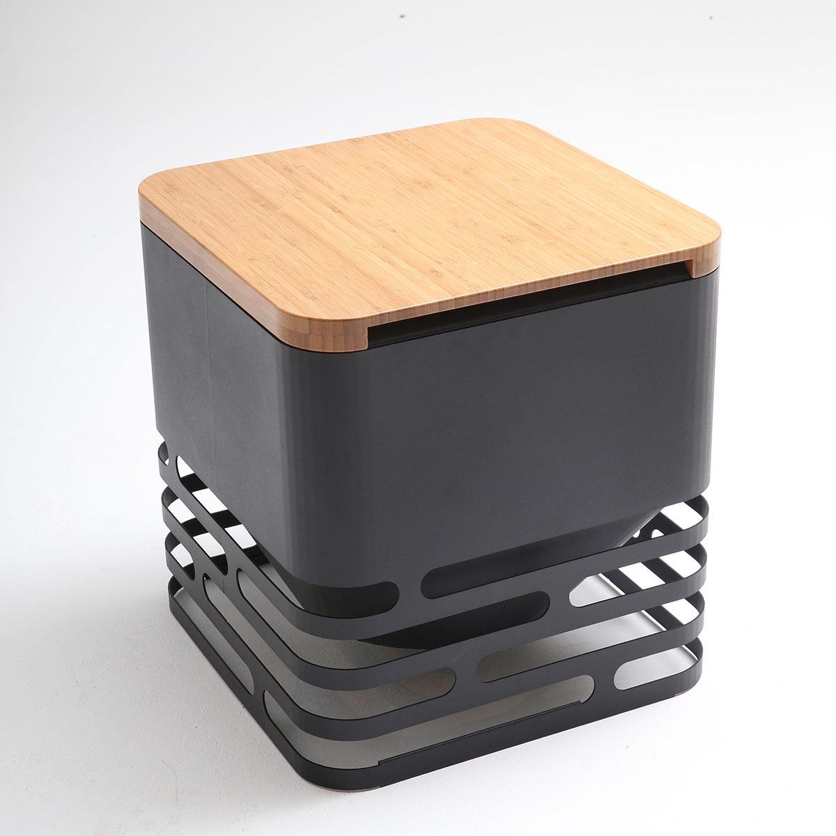 Feuerkorb Cube mit Auflagebrett | #3