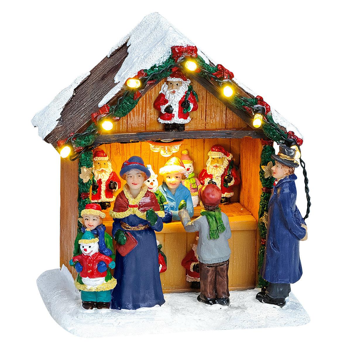 Miniatur-LED-Markt-Stand Weihnachtsdeko | #3