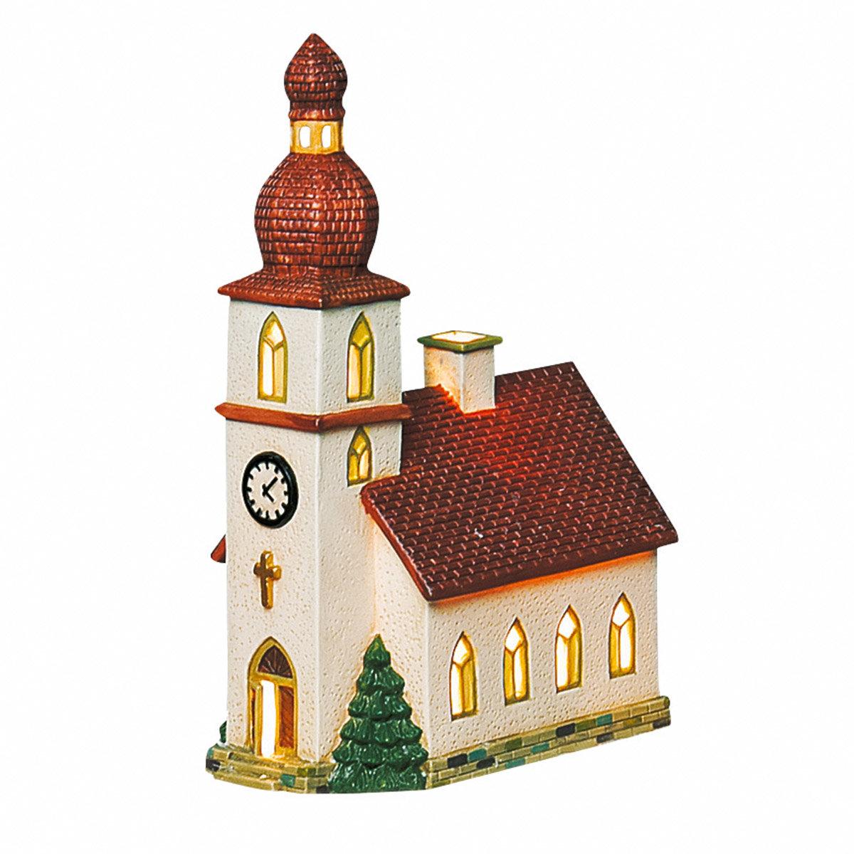 Miniatur-Weihnachtsdorf Lichthaus Dorfkirche | #3