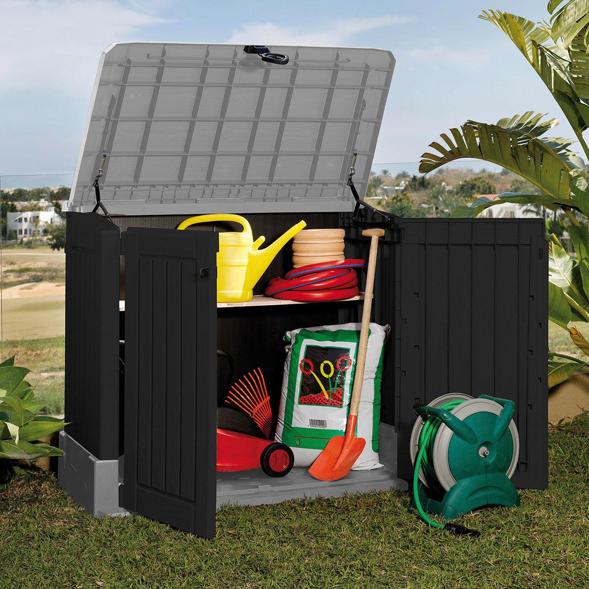 Store It Out Midi Aufbewahrungsbox Woodland 845 L, schwarz-grau | #3