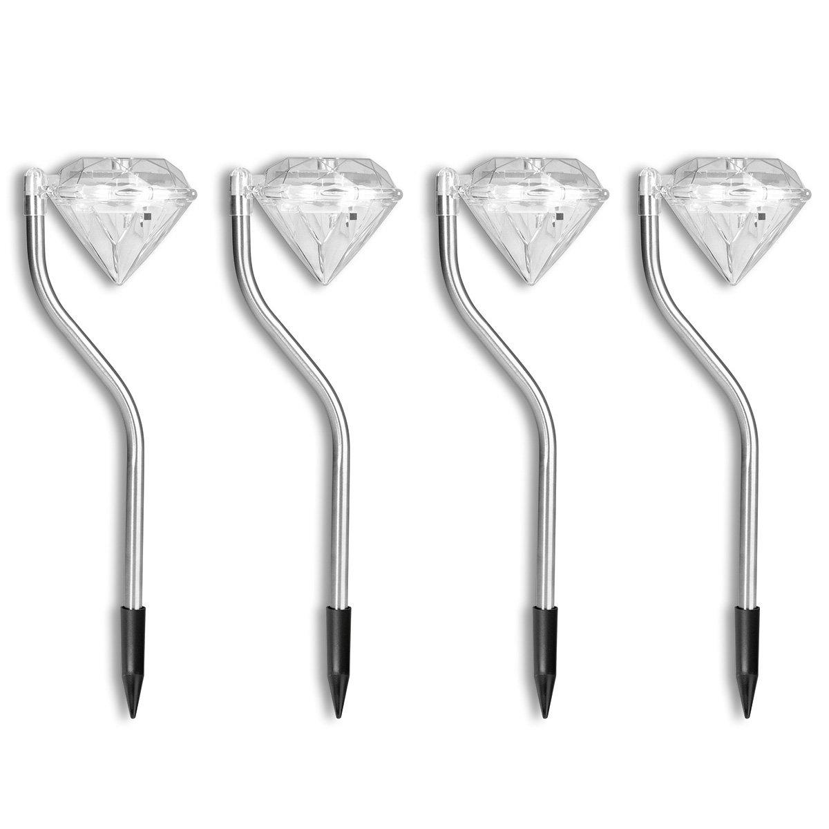 EASYmaxx Solar-Leuchte Diamant, 4er-Set | #3