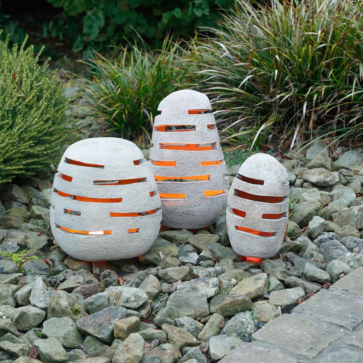 Terracotta-Gartenleuchte, mittel | #3