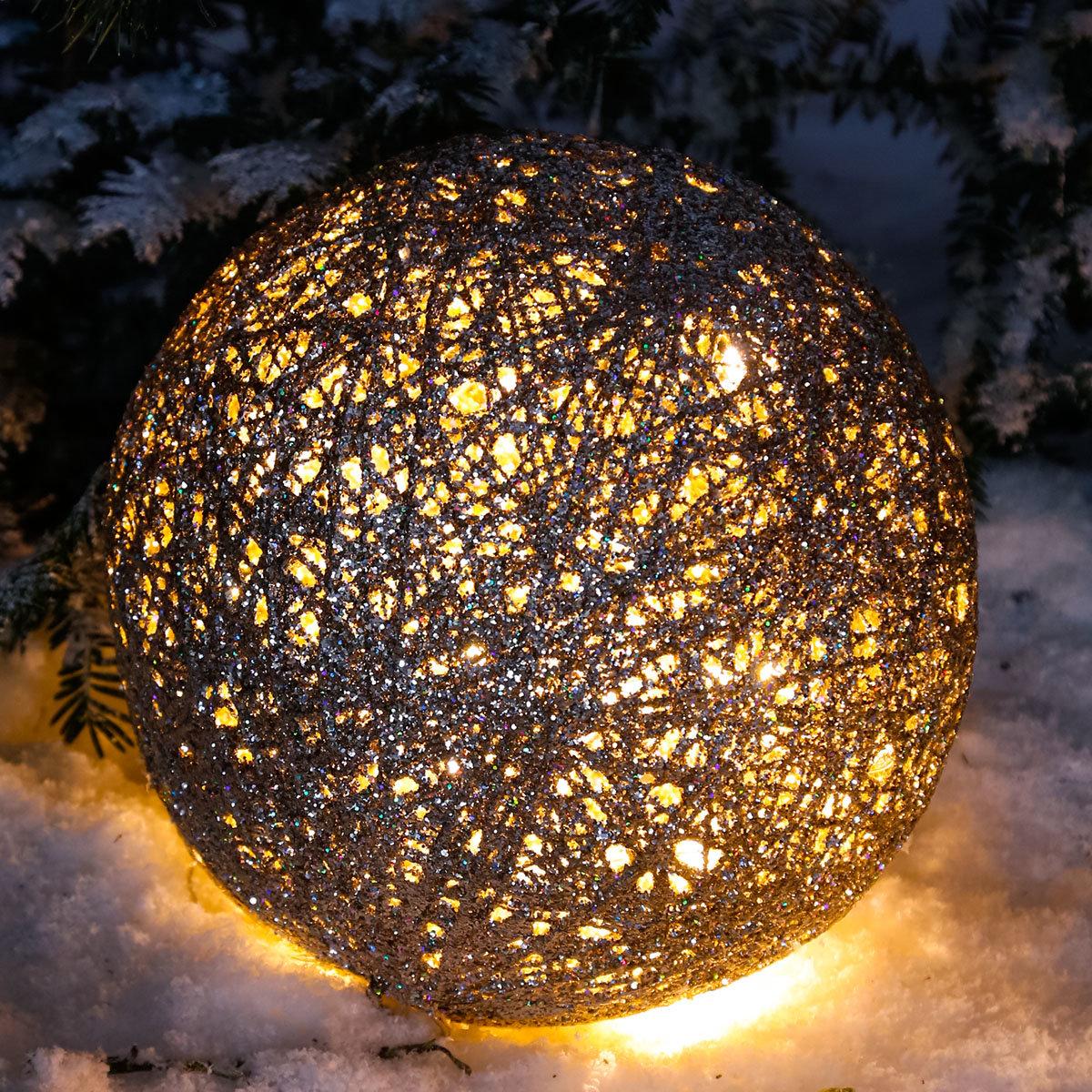 LED-Glitzerkugel Sternenstaub, groß | #3