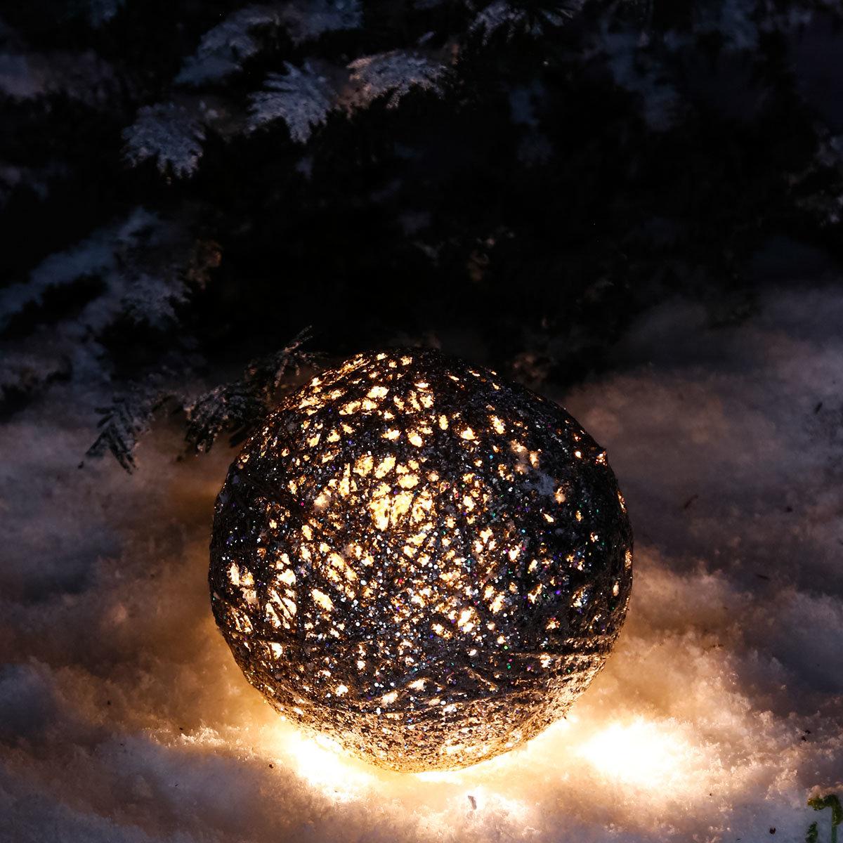 LED-Glitzerkugel Sternenstaub, klein | #3