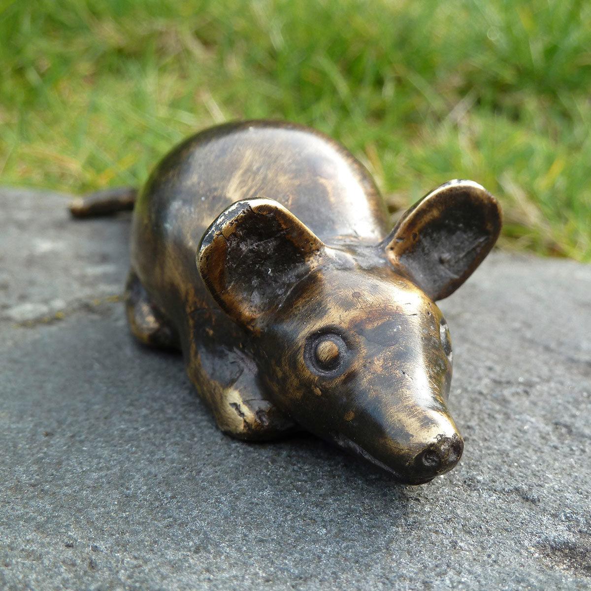 Bronze-Figur Glücksmaus | #3