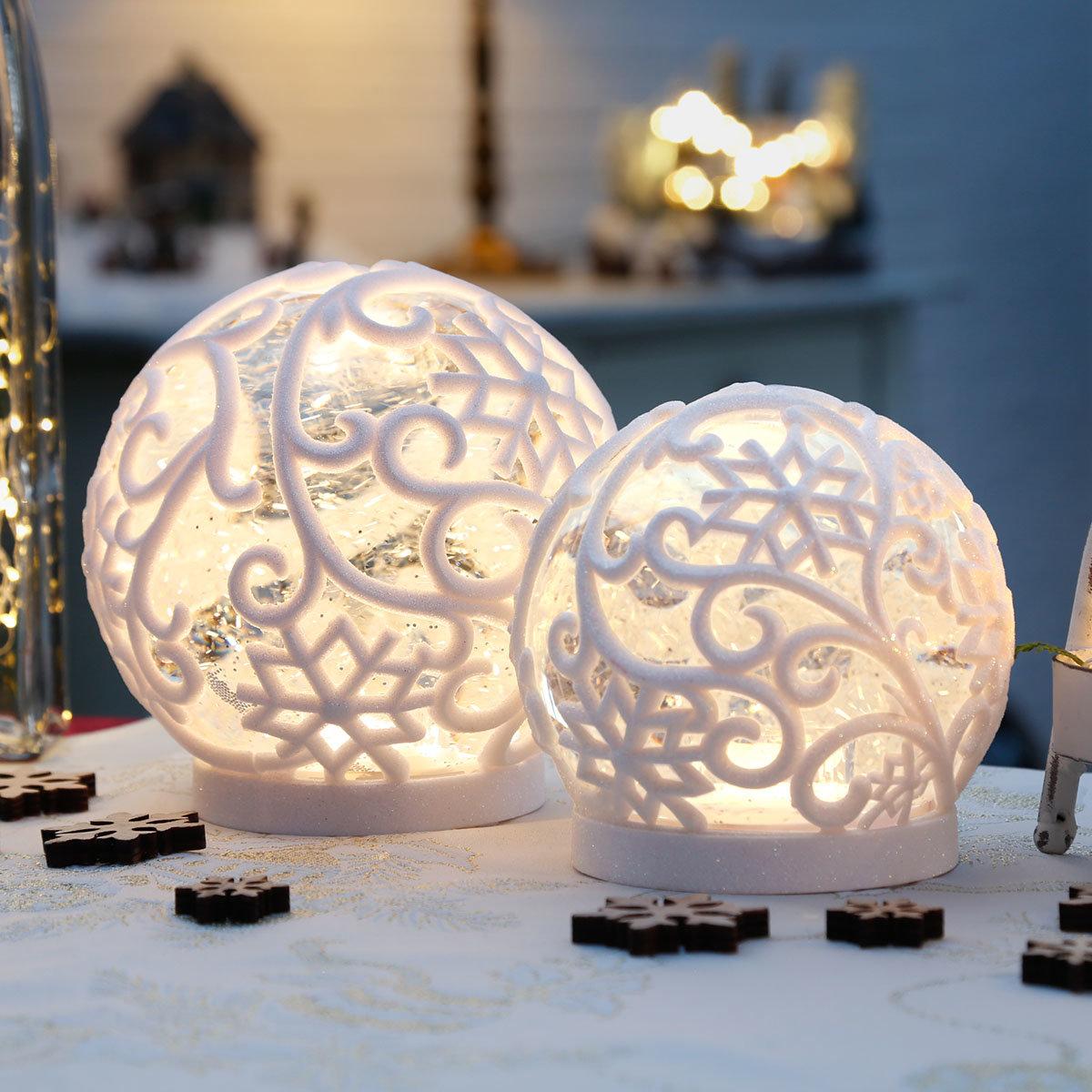 LED-Schneekugel Winterpoesie, klein | #3