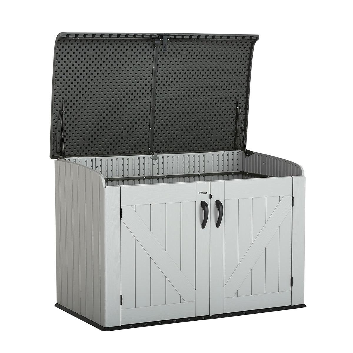Gerätebox-Mülltonnenbox, 132x191x108 cm, grau | #3