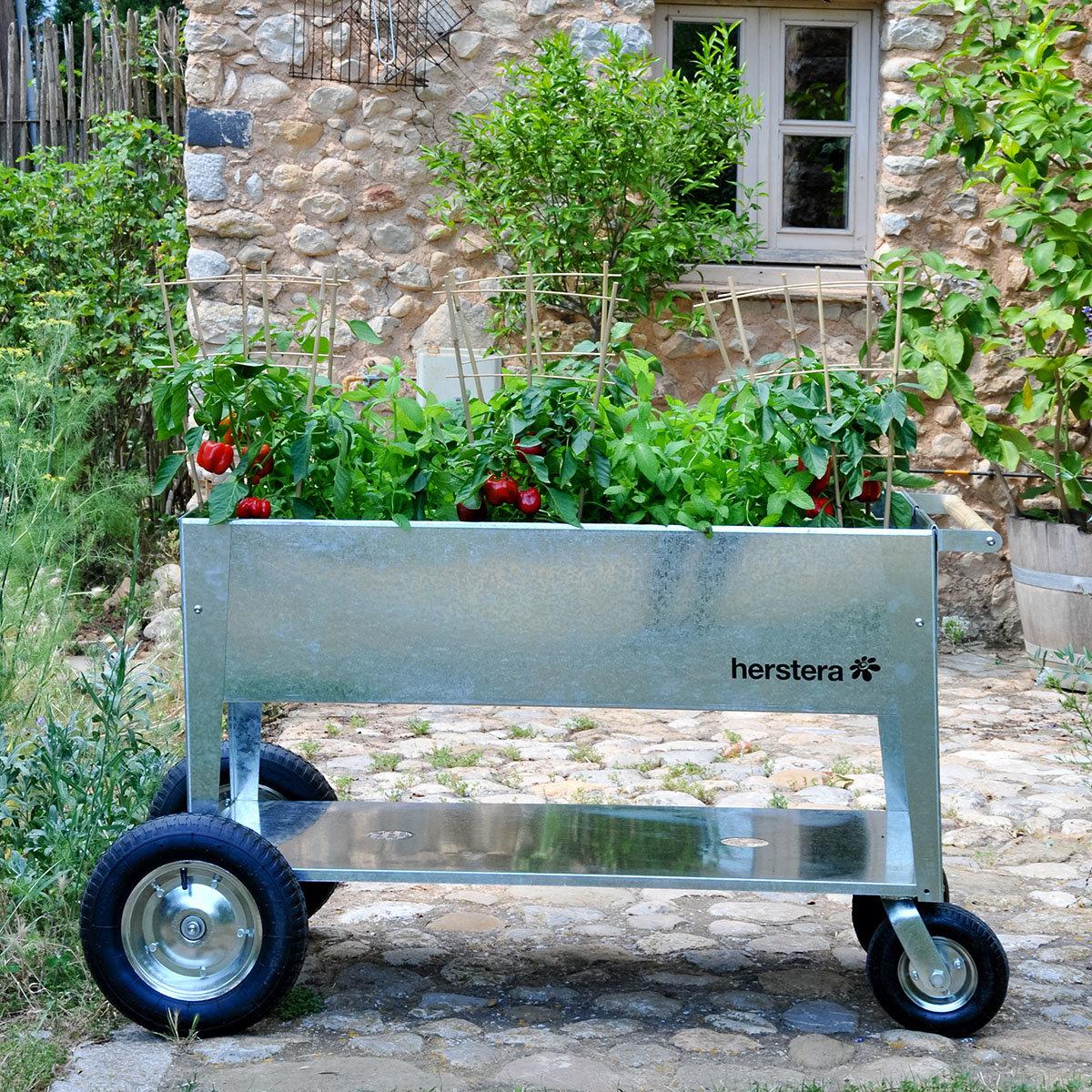 Herstera Hochbeet Garden Swivel, Silber, 120x60x80 Cm