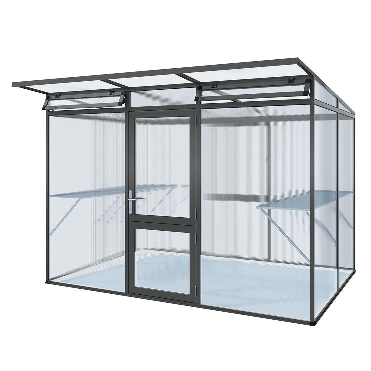 kgt gew chshaus linea ii 297 x 217 cm anthrazit grau. Black Bedroom Furniture Sets. Home Design Ideas