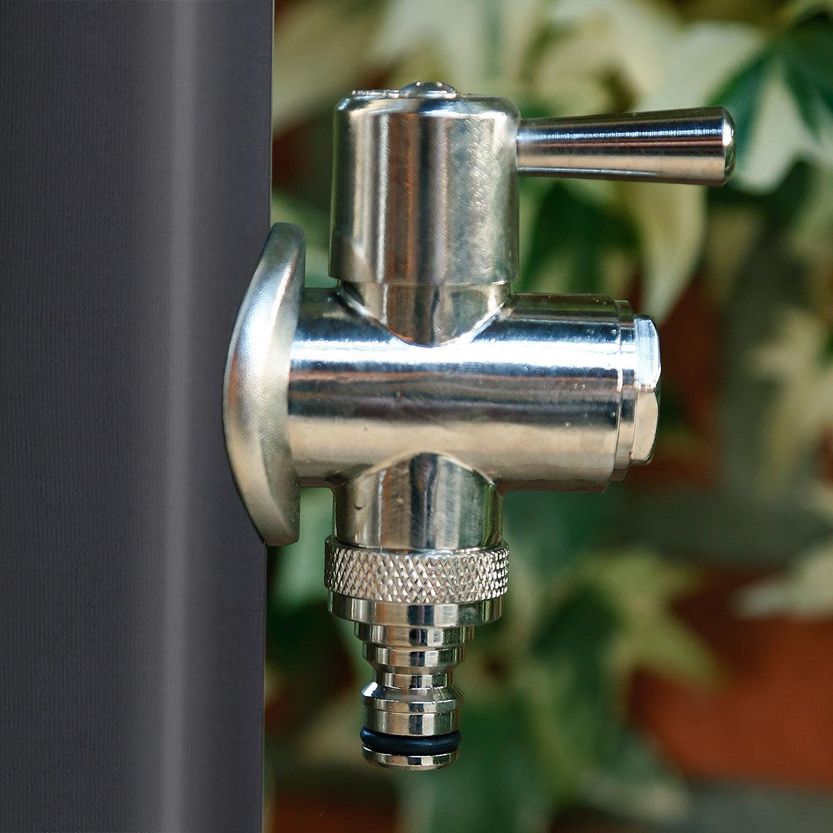 Wasserzapfsäule Tondo, 100x14x21 cm, Stahl, anthrazit | #3