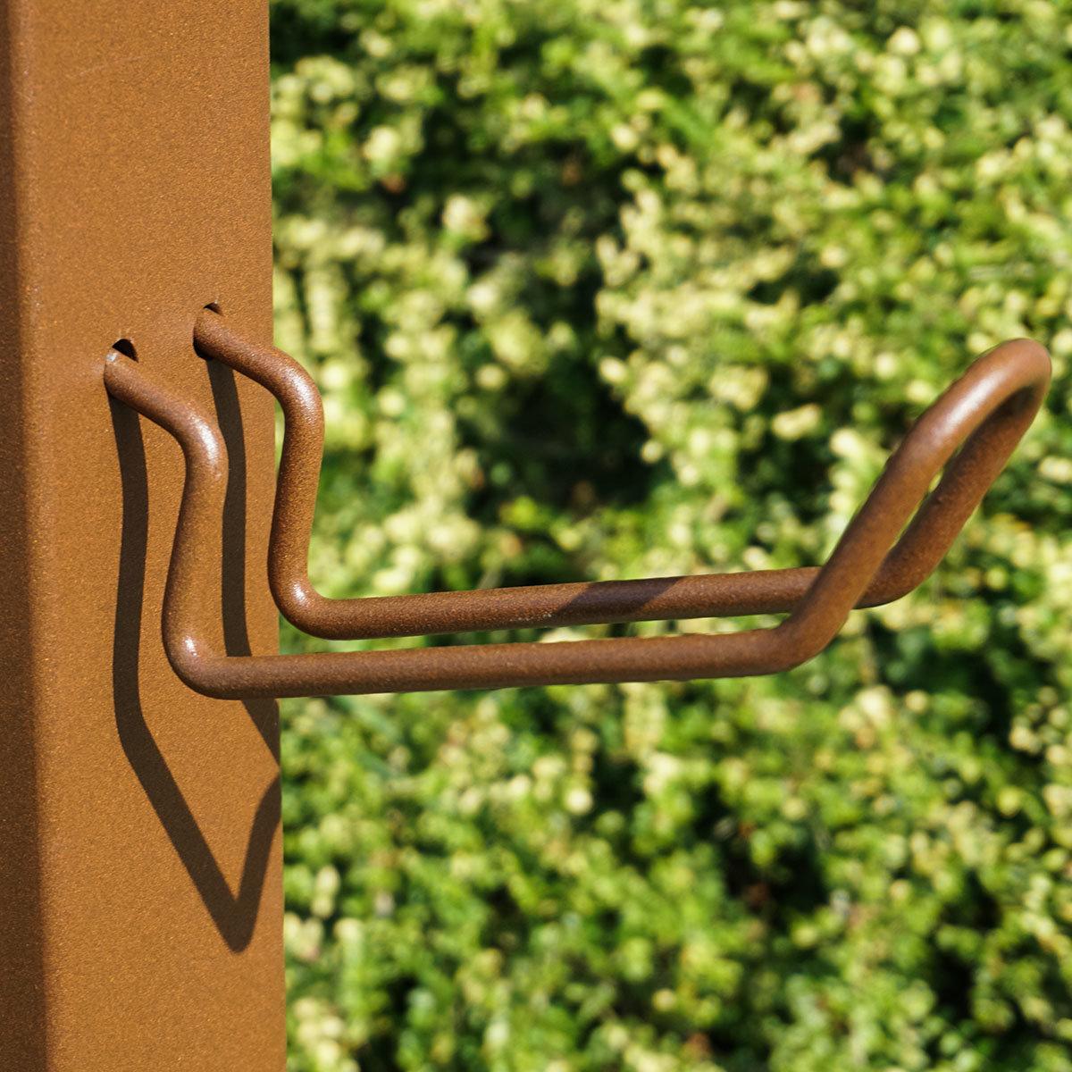 Wasserzapfsäule Quadra, 100x14x21 cm, Stahl, braun   #3