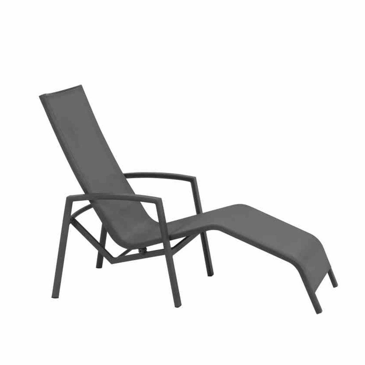 Gerona Sonnenliege, 103x68x148 cm, Aluminium, grau | #3