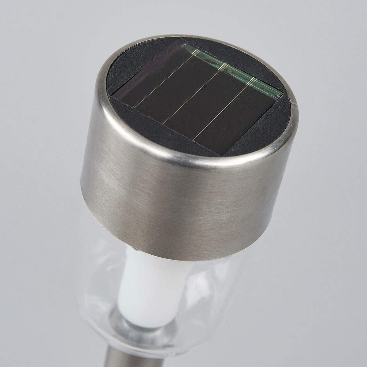 LED-Solarleuchten Maarten, 10er Set, 35,5x6,1x6,1 cm, Edelstahl, silber | #3