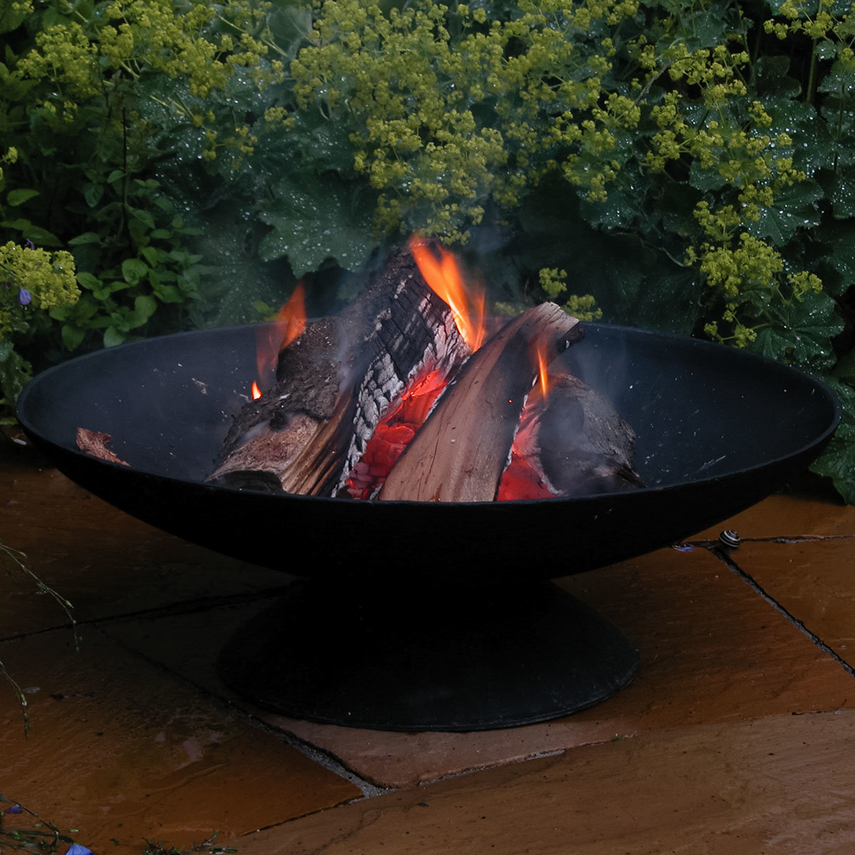 Feuerschale Basil, 21x59x59 cm, Gusseisen, schwarz | #3