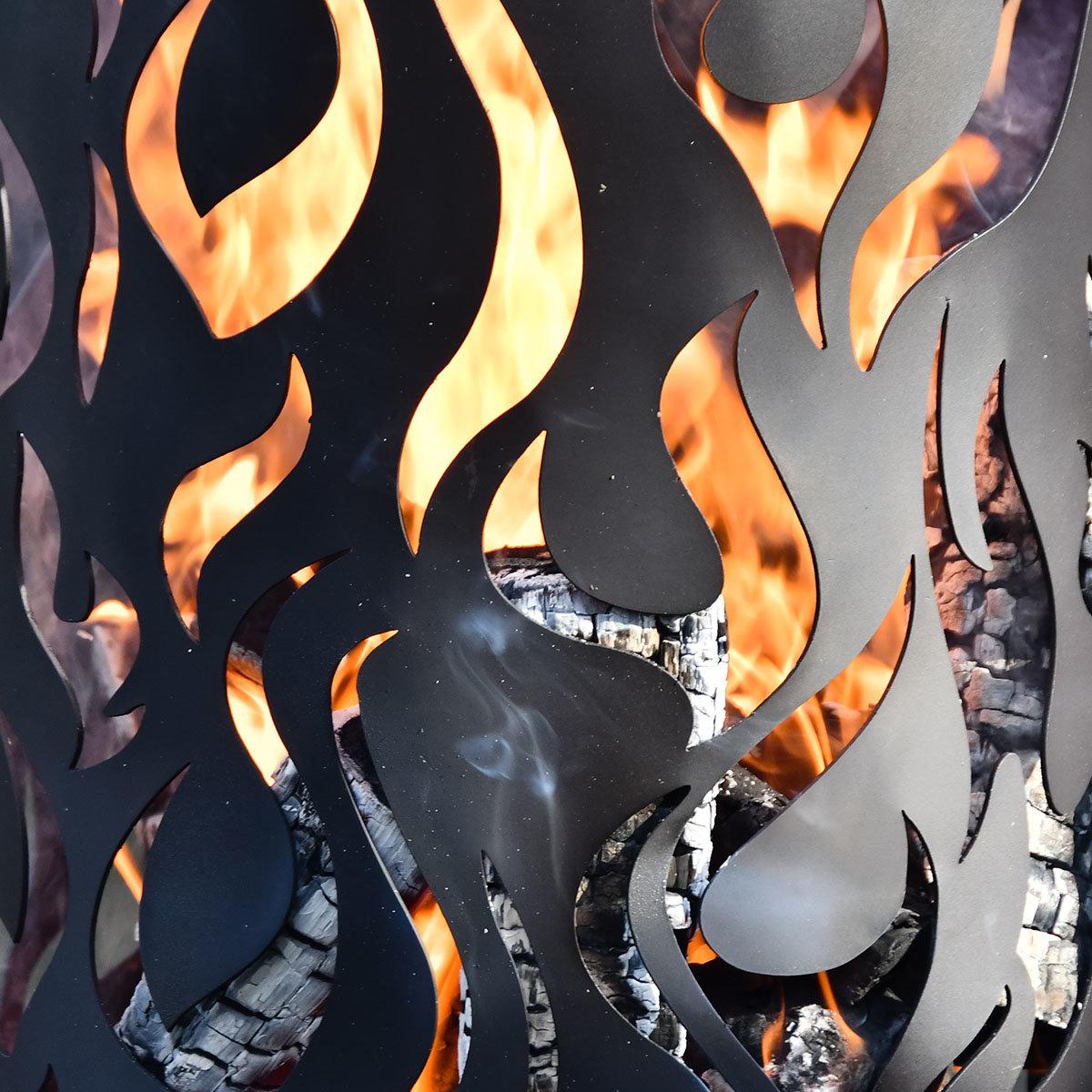 Flammentower Spector, 118x39x39 cm, Karbonstahl, schwarz | #3