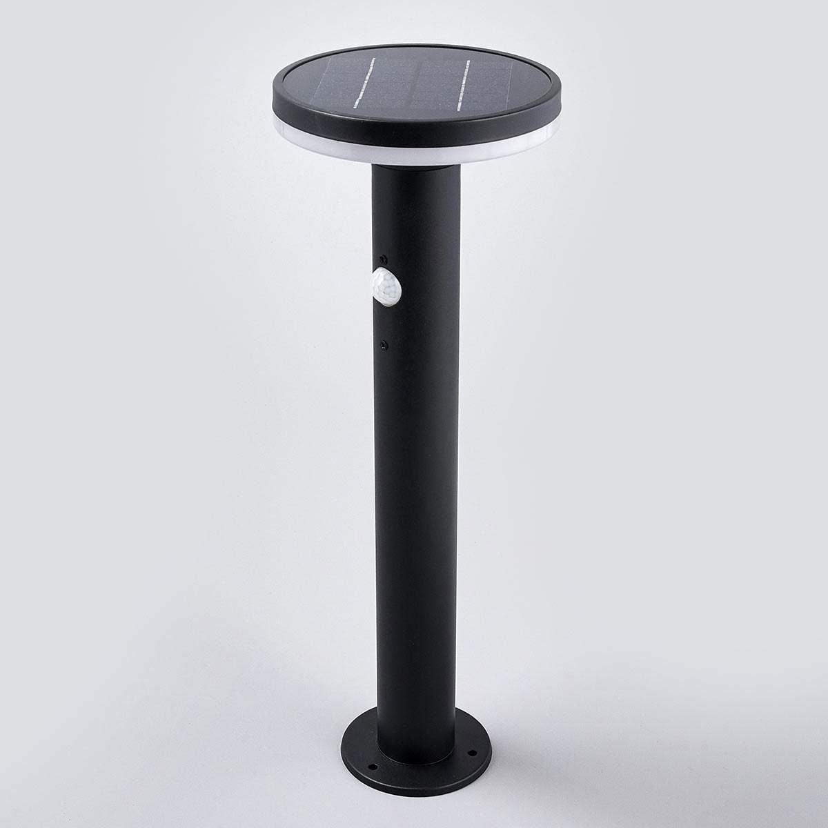 Solar-Sockellampe Eliano mit Bewegungsmelder, 45,5x16x16 cm, Edelstahl, schwarz   #3