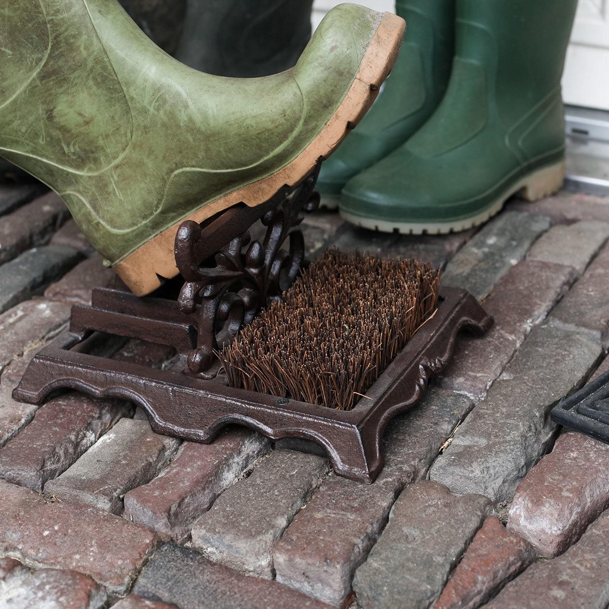 Schuhbürste Lyon, 14x27x22 cm, Gusseisen, braun   #3