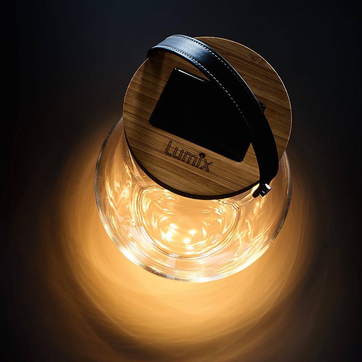 Deko Glas Bold, 31 cm, Glas, Bambus, klar | #3