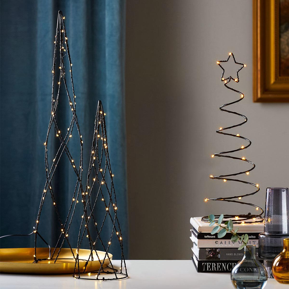 LED-Baum Dizzytree, 40x15x15 cm, Metall, schwarz   #3