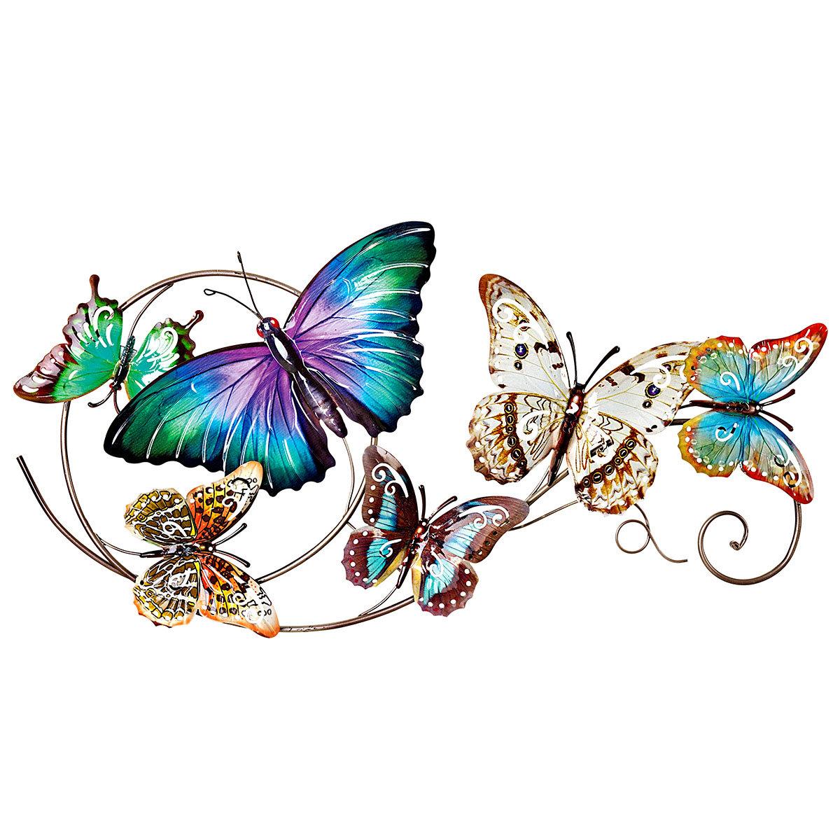 Wanddeko Schmetterlinge, 73x37 cm, bunt | #3